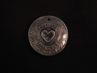 Against All Odds Antique Silver Colored Fresh Lipstick Pendant