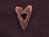 Antique Copper Colored Jagged Heart