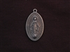 Vintage Replica 1800's Oval Mother Mary Antique Silver Colored Pendant