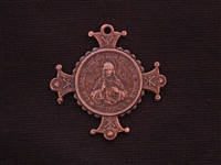 Vintage Replica Jesus On Cross Medallion Antique Copper Colored Pendant