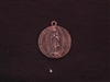 Vintage Our Lady Guadalupe Antique Copper Replica Medallion