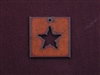 Rusted Iron Square With Star Cut Out Pendant