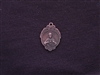 Small Vintage Sacred Heart Of Jesus Replica Medallion Antique Copper Colored