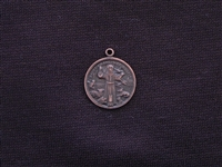 Vintage St Francis Medallion Replica (The Patron Saint Of Animals) Antique Copper Colored