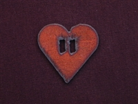 Rusted Iron Heart Button Slide