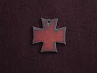 Rusted Iron Medium Chopper Cross Pendant