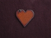 Rusted Iron Medium Heart With Side Hole Pendant