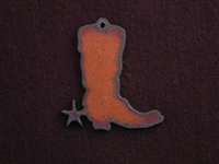 Rusted Iron Medium Boot Pendant