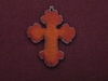 Rusted Iron Chubby Cross Pendant