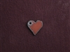 Rusted Iron Mini Heart With Side Hole Charm