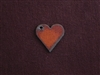 Rusted Iron Small Heart With Side Hole Charm