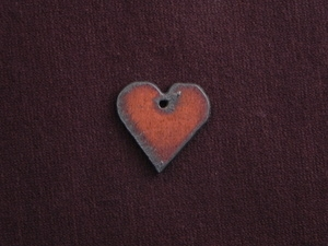 Rusted Iron Small Heart With Center Hole Charm