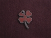 Rusted Iron Small Four Leaf Clover Charm