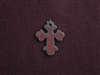 Rusted Iron Small Chubby Cross Charm