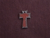 Rusted Iron Small Iron Cross Charm