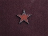 Rusted Iron Small Star Charm