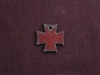 Rusted Iron Small Chopper Cross Charm