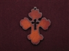 Rusted Iron Chubby Cross With Cross Cut Out Pendant