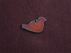 Rusted Iron Small Chubby Bird Charm