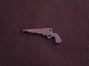 Rusted Iron Small Pistol Charm