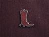 Rusted Iron Small Boot Charm
