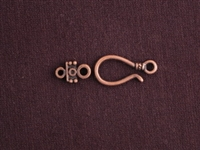 Hook And Eye Antique Copper Colored Fancy