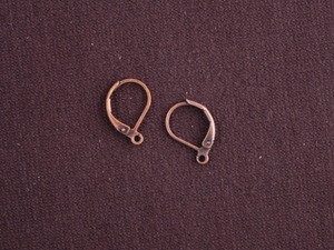 Ear Wires Antique Copper Colored Brass Leverback