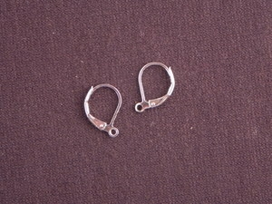 Ear Wires Silver Colored Brass Leverback