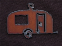 Rusted Iron Camper Pendant