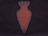 Rusted Iron Arrow Head Pendant