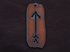 Rusted Iron Tag With Arrow Pendant