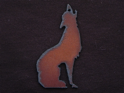 Rusted Iron Coyote Pendant