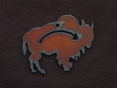 Rusted Iron Buffalo With Arrow Pendant