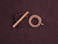 Toggle Clasp Antique Copper Colored Simple Ring