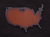 Rusted Iron USA Pendant