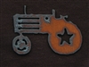 Rusted Iron Tractor Pendant