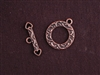 Toggle Clasp Antique Copper Colored Fancy Loop