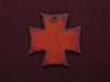 Rusted Iron Chopper Cross Pendant