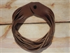 Leather Shredded Necklace Taco Brown