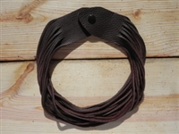 Leather Shredded Necklace Cocoa Brown