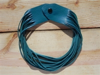 Leather Shredded Necklace Turquoise