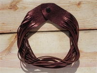 Leather Shredded Necklace Antique Copper