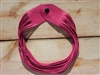 Leather Shredded Necklace Fuchsia