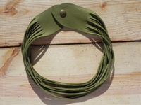 Leather Shredded Necklace Avocado Green