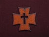 Rusted Iron Chopper Cross With Cross Cut Out Pendant