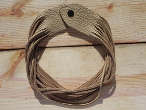 Leather Shredded Necklace Butter