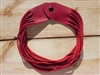 Leather Shredded Necklace Cranberry Red
