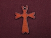 Rusted Iron Heart Ends Cross Pendant
