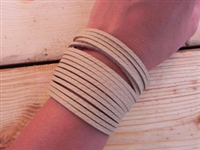 Leather Shredded Cuff Bracelet Butter