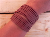 Leather Shredded Cuff Bracelet Deep Rust